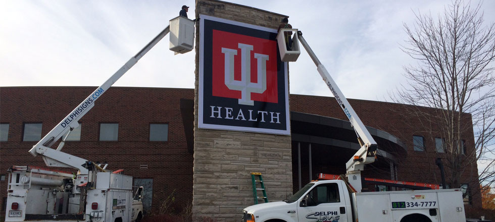 IU Health Sign by Delphi Signs
