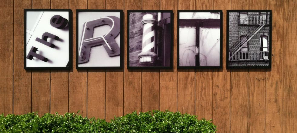 The Ritz Barbershop Sign by Delphi Signs