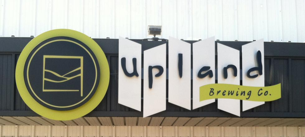 Upland Brewing Company Sign by Delphi Signs